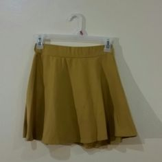 Skirt Mustard yellow skirt Charlotte Russe Skirts Circle & Skater