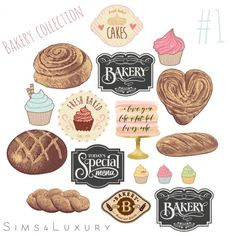Sims4Luxury: Bakery collection 1 • Sims 4 Downloads