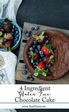 4 Ingredient Gluten Free Chocolate Cake