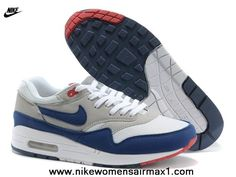 the best attitude c96ec 580fa Find Nike Air Max 1 87 Mens White Grey Blue For Sale online or in Footlocker.  Shop Top Brands and the latest styles Nike Air Max 1 87 Mens White Grey Blue  ...