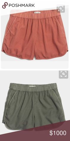 [ISO] Madewell Linen Pull-On Shorts IN SEARCH OF Madewell linen pull-on shorts in green or terracotta, size XS or S. Madewell Shorts