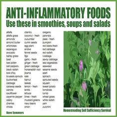 "Anti-inflammatory herbs, fruits, and vegetables work in many ways to lessen the inflammatory response in the body. Note that anytime a glossary term contains the word ""anti"" it lets us know what it does but rarely does this classification break herbs down into how this is accomplished. Here is a simple, yet handy chart of […]"