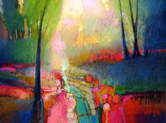"""""""In order for the light to shine so brightly, the darkness must be present.""""  ~Sir Francis Bacon  ~ Art by Mark Gould"""