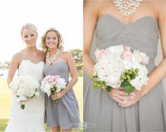 John's Island beach club wedding   Vero beach Florida   Pink and Gray Wedding   Beachside wedding   Donna Morgan grey bridesmaids