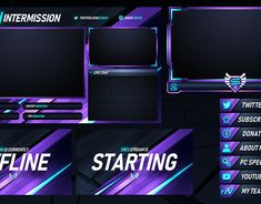 Twitch Livestream Designs (Stream Packages/Overlays) on Behance Youtube Banner Template, Youtube Banners, Twitch Streaming Setup, Game Live Stream, Youtube Design, Display Banners, Youtube Logo, Youtube Channel Art