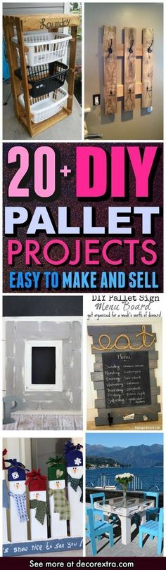 DIY Pallet Projects, Ideas and Crafts To Make and Sell, Cheap DIY Ideas, Craft Projects You Can Sell On Etsy, Wood Pallet DIY Made Easy With Step by Step Tutorials - Easy and Quick DIY Projects and Crafts http://decorextra.com/diy-pallet-projects-easy-to-make-and-sell/ #sellhousebyowner #craftstomake #palletprojects #craftstomakeandsell #woodcraftsideas #craftsprojects