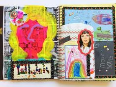 Display your children's artwork in journals and scrapbooks to preserve their artistic endevours. Have the kids help putting the journals together to make it a family project.