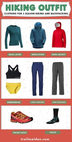 Hiking outfit needs to keep you comfy and warm in all conditions. This  simple list 0cb3561f35