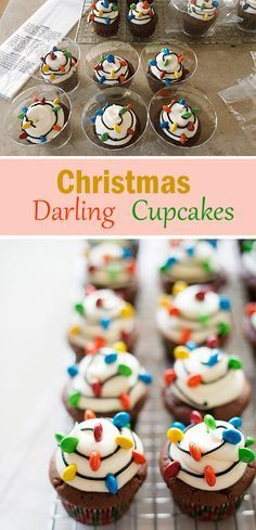 15 easy mason jar christmas decorations you can make yourself these christmas darling cupcakes are totally adorable and easy to make so yummy solutioingenieria Choice Image