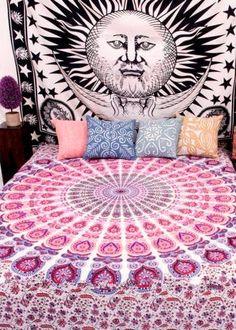 Mandala Tapestry / Mandala Wall Hanging / Mandala Bedspread / Mandala Wrap / Mandala Yoga Mat / Mandala Beach Blanket / Bohemian Home Decor / Boho Tapestry / Bo
