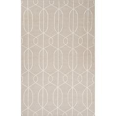Jaipur Rugs FlatWeave Geometric Pattern Gray/Ivory Wool Area Rug MR84 (Rectangle)