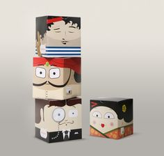 Persuasive illustration. Tea People on Packaging of the World - Creative Package Design Gallery