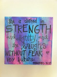 Girly Verse Canvas Proverbs 3125 by laurencox00 on Etsy, $29.00; not Wanelo but close enough