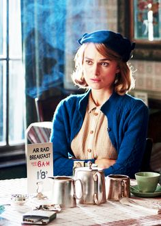 Keira Knightley as Joan Clarke in The Imitation Game (2014). Now, what exactly is an air raid breakfast?