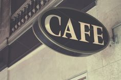Cafe sign by Patricia Hofmeester on Creative Market