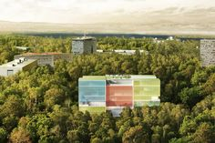 Steven Holl Architects Designs Colored Photovoltaic Glass Building for Doctors Without Borders' Geneva Office