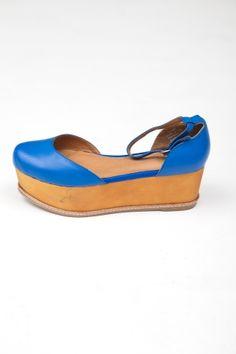 Jeffrey Campbell  Blue Suebee Ankle Strap Flatform
