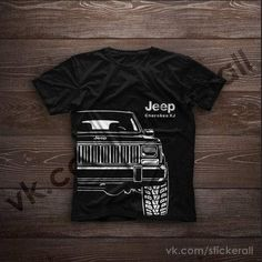 A classic mens t-shirt with a design drawing of the Jeep Grand Cherokee ZJ. Quality material 100% cotton, durable print, free shipping worldwide. If you want to complete the design with an inscription on the license plate or in another part of the T-shirt, just write about it in the