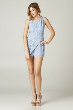#salediem #jumpsuits #rompers #springcothes  Floral Laced Romper
