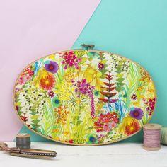 Liberty Print Embroidery Hoop Art