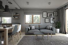 Mieszkanie 92m2 - Salon, styl skandynawski - zdjęcie od Pracownia Architektoniczna Małgorzaty Górskiej-Niwińskiej