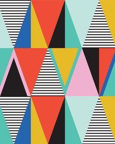 Graphic Triangles 16 x 20 art print by shopampersand on Etsy --weaving inspiration Geometric Patterns, Graphic Patterns, Textures Patterns, Graphic Prints, Geometric Shapes, Graphic Art, Print Patterns, Art Prints, Pattern Art
