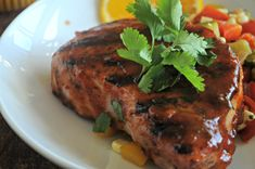 Orange Cilantro BBQ Sauce, Mountain Mama Cooks - uses zest and juice of 1 small orange. *This sauce makes enough for 4 pork chops or single chicken breasts.