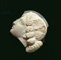 Cameo fragment of the head of Medusa. Museo Archeologico Nazionale, Naples, Italy