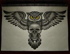 owl skull II by FraH.deviantart.com on @deviantART