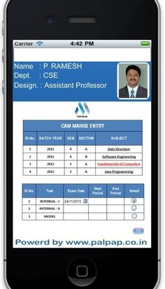 PALPAP APPS FOR FACULTIES TO SIMPLIFIED CAM/UNIT TEST MARK ANALYSIS