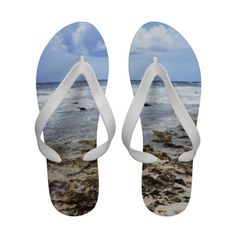 Aruba Rocky Ocean Flip Flops    •   This design is available on t-shirts, hats, mugs, buttons, key chains and much more    •   Please check out our others designs and products at www.zazzle.com/zzl_322881145212327*