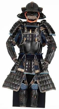Sendai-dou gusoku. Muneyoshi of the House of Myouchin, 1735. Materials hide, lacquer, iron, buckskin, silk, ramie, hemp. Dimensions Overall 1500 (Height) x 600 (Length) x 800 (Width/Depth) mm. Te Papa Our Place MUSEUM OF NEW ZEALAND