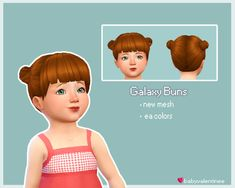 BabyValentinee's Galaxy Bunsedit of two ea hairs put together. Custom Thumbnail All EA natural Colors Enabled for random BGC Mediafire: http://www.mediafire.com/file/s81tsmy87152d1j/ValentinesGalaxyBuns.package If you like my lame cc & wanna support...
