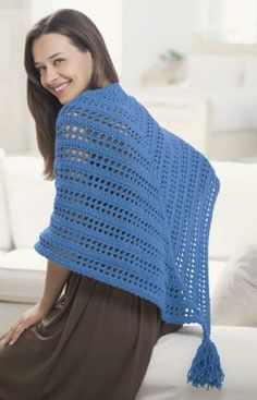 Crochet Triangle Shawl Free Pattern from Red Heart Yarns