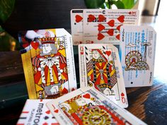Metrodeck Playing Cards -  Inspired by landmarks across New York City's five boroughs, metrodeck Playing Cards are printed on found and repurposed subway fare cards scattered throughout the city. Each deck is made up of 52 English-Style playing cards plus 2 jokers.