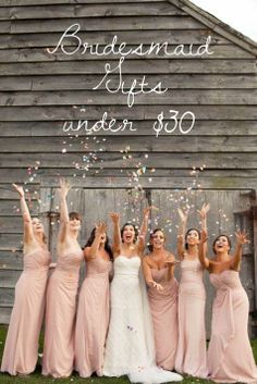 Bridesmaid gifts under $30   Ilene Squires Photography via The Knot