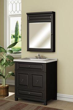 "Miseno MVBH30COM Antique Espresso 30 ""Bathroom Vanity Set - Cabinet, Stone Top và Y học Nội kể - FaucetDirect.com"