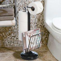 Standing Toilet Paper Holder Bathroom Tissue Roll Storage Magazine Rack for sale online Free Standing Toilet Paper Holder, Pedestal Toilet Paper Holder, Bathroom Storage Over Toilet, Bathroom Rack, Bathroom Ideas, Toilet Decoration, Paper Stand, Oil Rubbed Bronze, Bath