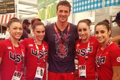 Ryan Lochte with the Fab 4 of 5