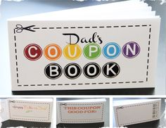 $4.99 Dad's Coupon Book - Perfect Gift for Father's Day!  at VeryJane.com