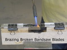 Repair your broken band saw blades by yourself to save your money! Basically easy work!