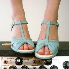 Vintage Tiffany Blue Babydoll Shoes
