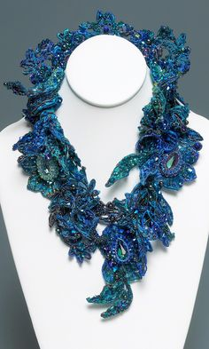 Jewelry Design - Collar-Style Necklace with Seed Beads and Swarovski Crystal Components - Fire Mountain Gems and Beads