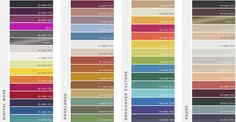 WGSN SS17 Colour reference