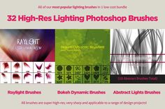 32 Varied Photoshop Lighting Brushes by FanExtra on @creativemarket
