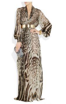 Animal print + Gold Belt + Inspired= LOVE this dress! Leopard Print Outfits, Animal Print Outfits, Animal Print Fashion, Fashion Prints, Animal Prints, Abaya Fashion, Modest Fashion, Fashion Dresses, Steampunk Fashion