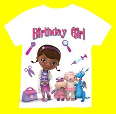 Doc McStuffins Birthday T-shirt PERSONALIZED with Name & Age12,18, 2T 3T4T 5T 6T Personalization is included at no additional cost.