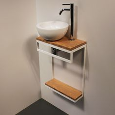 Bathroom Vanity Decor, Small Bathroom Sinks, Bathroom Sets, Diy Home Furniture, Metal Furniture, Bathroom Furniture, Clinic Interior Design, Bathroom Interior Design, Home Decor Accessories