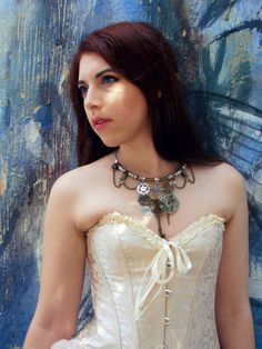 Thanks to Mikoto for this pic!   #necklace#steampunk #gears  MàGia™  www.lovingmagia.com