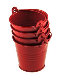 Red Plain Mini Tin Pail Buckets : The Party Cupboard : Online Party Supplies Store Australia Shrimp Boil Party, Crawfish Party, Crab Party, Seafood Party, Tin Pails, Buckets, Beach Vacation Meals, Lobster Boil, Low Country Boil